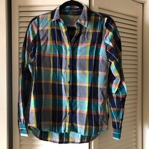 The Limited // Women's plaid button down shirt